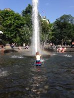 The fountain at Washington Square Park.