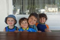 Henry, Sebastien (2), Luca (7), and Noah (5)