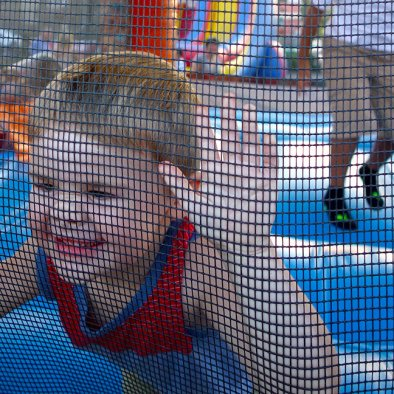 Bounce house close-up.