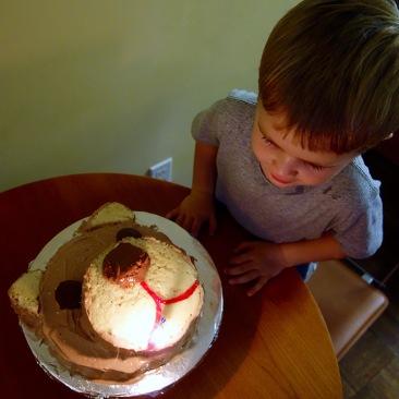 Pre-Birthday Bear cake