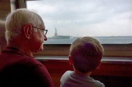 Seeing the Statue of Liberty from the Staten Island Ferry.