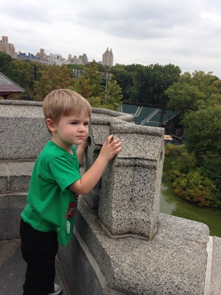 Manning the battlement at Belvedere Castle.
