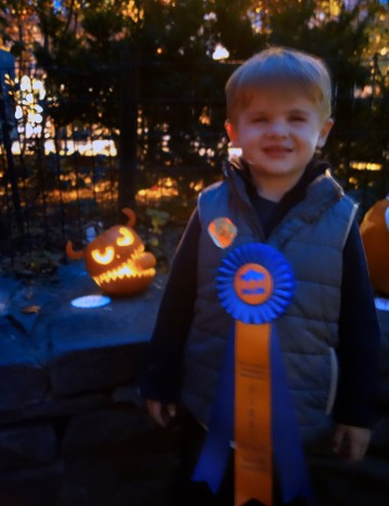 Blue Ribbon Winner in Scariest Pumpkin category