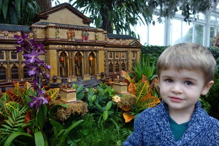 Henry in front of a model of the NYPL's 5th Ave. library.